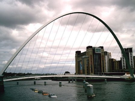 Мост Gateshead Millennium
