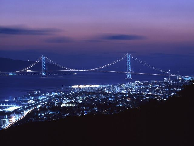 Мост Акаси в Японии (Akashi bridge)