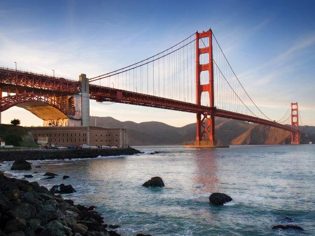 Мост Золотые ворота, Сан-Франциско, Калифорния.